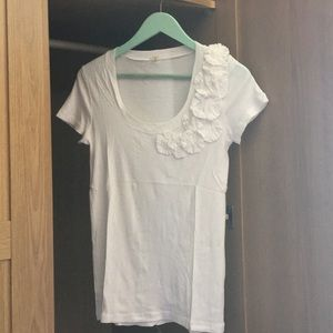 J Crew white short sleeve T-shirt